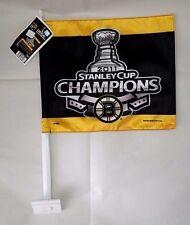 B: NHL WINCRAFT BOSTON BRUINS BLACK&GOLD CAR FLAG 2011 STANLEY CUP CHAMPIONS NEW