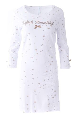 """/%/% LOUIS /& LOUISA /"""" Einfach Himmlisch /"""" Nachthemd Sterne taupe Gr L  NEU /%/% S"""