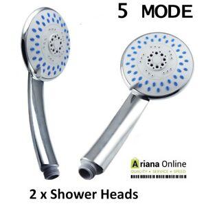 2-X-Universal-Function-Chrome-Anti-limescale-Large-Bath-Handset-Shower-Head