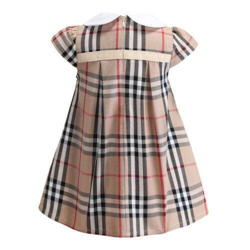 GIRLS RED//PINK//BROWN CHECK SCHOOL SUMMER DRESSES AGE 3-7 Years