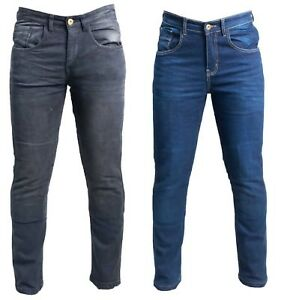 TX-Men-039-s-Motorcycle-Motorbike-Jeans-Stretch-Denim-Trousers-Protective-Lining