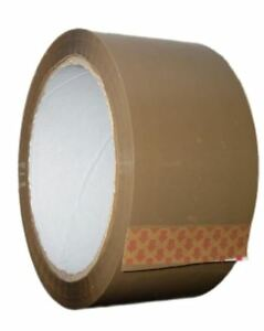12 XRolls Of BROWN STRONG Parcel Tape Packing sellotape Packaging 48mm x 66m NEW