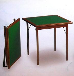 Tavolo poker da gioco pieghevole in legno ebay for Tavolo poker