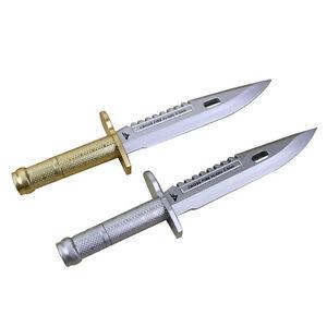2-tlk-Neuheit-Kugelschreiber-Messer-Form-Dagger-Schreibgeraet-kreative-Geschenk