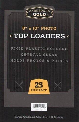 500 CBG 8 x 10 Hard Plastic Rigid Topload Photo Holders 8x10 toploaders -2 CASES