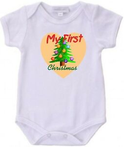 image is loading baby 039 s first christmas bodysuit creeper new