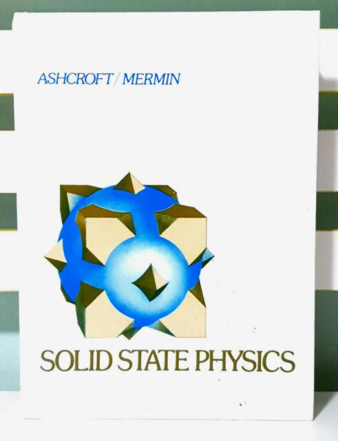 Solid State Physics! HC Textbook by Neil W. Ashcroft & N. David Mermin!