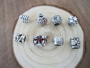 10 Tibetan Silver Dreadlock Dread Beads 5mm Hole Snake Hair Bead