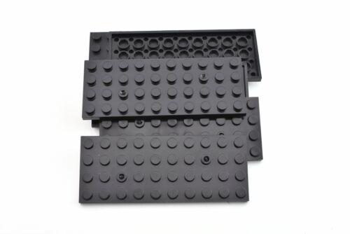 12 Pieces QTY TCM Compatible Bricks Black Plate 4x10