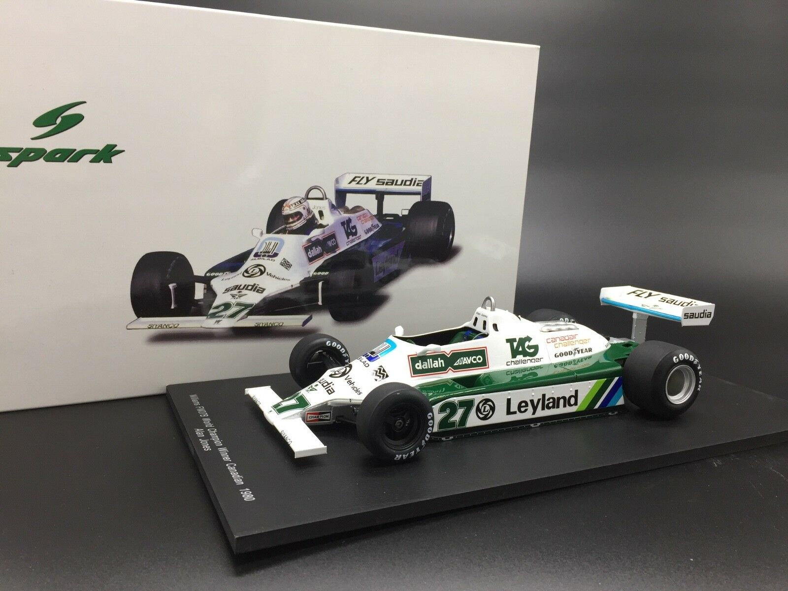 Spark 18S117 Williams FW07B 1980 World Champion - Alan Jones 1/18 Scale
