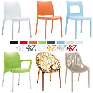 gartenstuhl kunststoff k chenstuhl stapelstuhl outdoor drinnen drau en stapelbar ebay. Black Bedroom Furniture Sets. Home Design Ideas