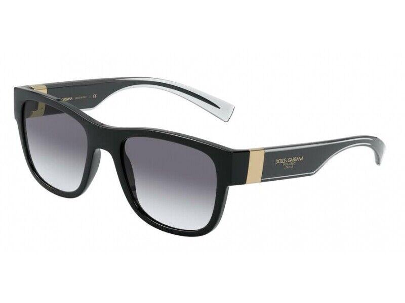 Dolce & Gabbana Sunglasses DG6132 675/79 BLACK Black grey Men Authentic