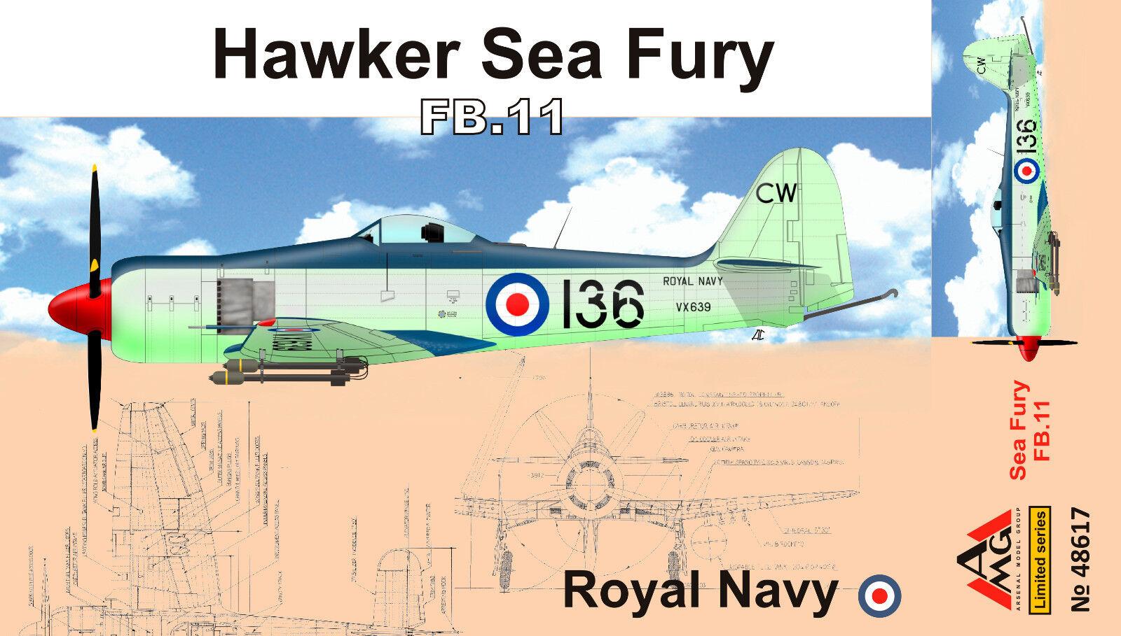 AMG Models - 48617 - Hawker Sea Fury FB.11 RAF - 1 48