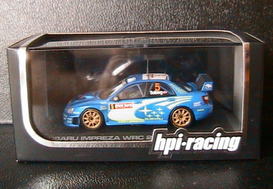 SUBARU IMPREZA WRC  5 RALLY JAPAN 2005 PETTER SOLBERG MILLS HPI RACING 932 1 43