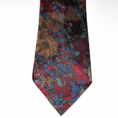 Jacquard floral tie by Burton Classics bright traditional men's office wear