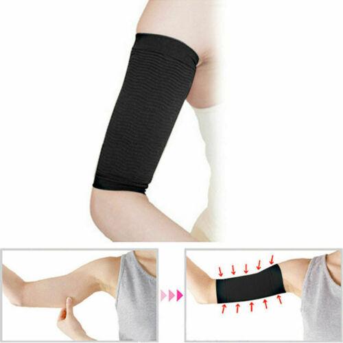 1 Pair Slimming Black Arm Belt Band Toning Control Shaper Massage Fat Buster UK