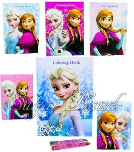 Image Is Loading 6 PCS Frozen Coloring Books Anna Elsa Olaf