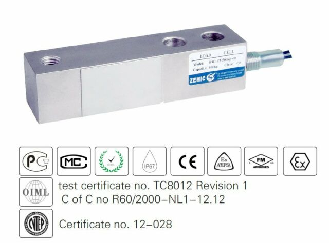 Minebea CBC1-10K Beam Type Load Cell for Low Capacity Industrial Weighing System