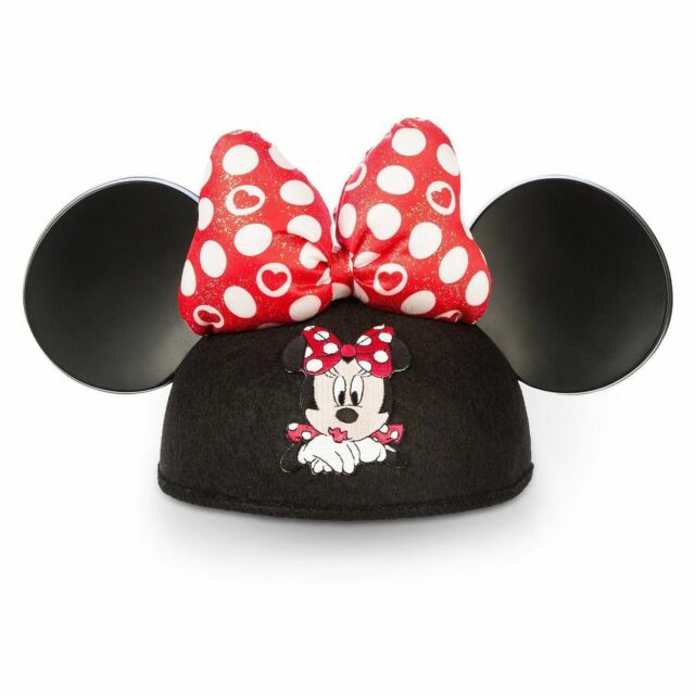 Buy Disney Mickey Ears Hat Polka Dot Bow Embroidered Baby Minnie ... 21904448d86
