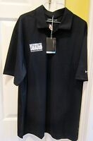 Men's Nike Golf Black Golf Polo Size Small Indy 500 Chevy National Guard 358324