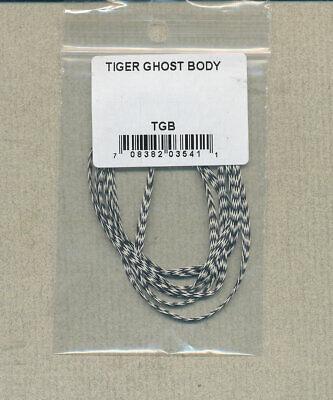 """10 Yd Sleeve GUDEBROD Butt Wind Flat Braid Black//White 001//002 1//8/"""" Tiger Ghost"""