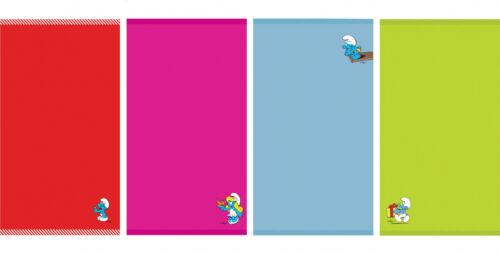 70x140 cm Smurfs Badetuch Handtuch Strandtuch mit Applikation Schlümpfe 50x90
