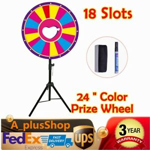 """24/"""" Editable Dry Erase Color Prize Wheel of Fortune Spinning Game Tradeshow BE"""
