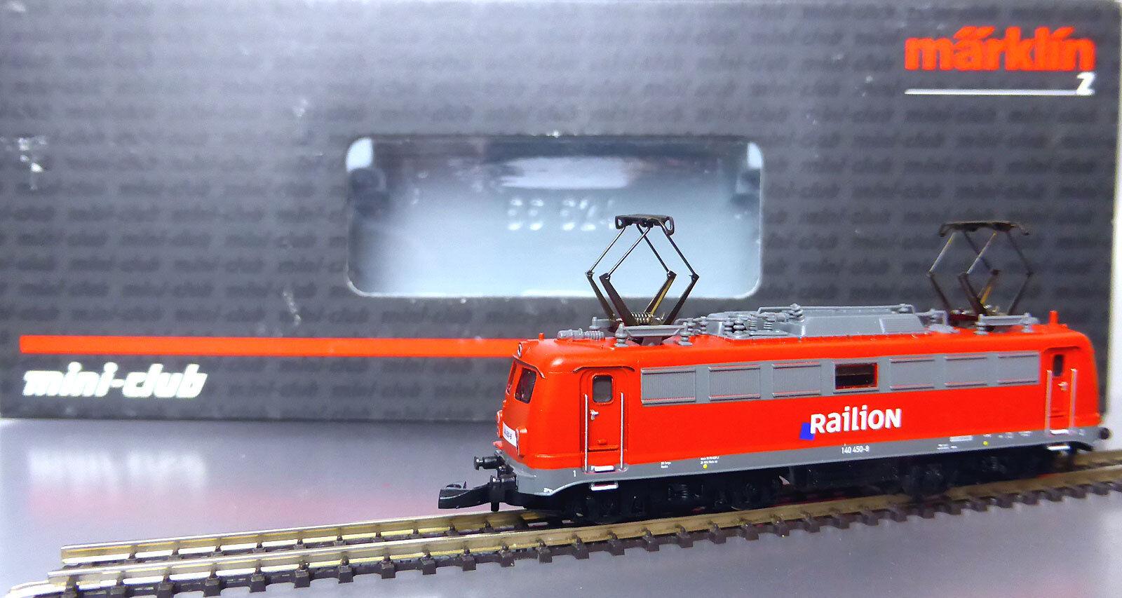 Z miniclub 88392; ELLOK 140 450-8 Railion, verkehrsrot, in scatola originale/d230