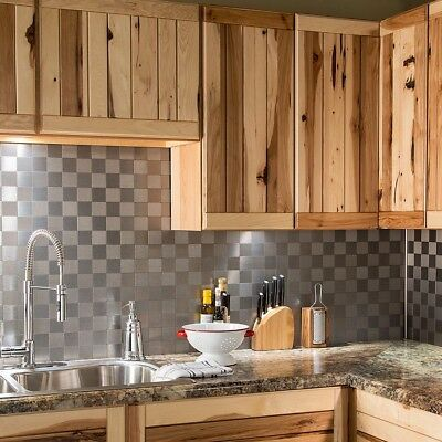 Peel And Stick Tile Silver Self Adhesive Metal Stainless Wall Kitchen  Backsplash | eBay