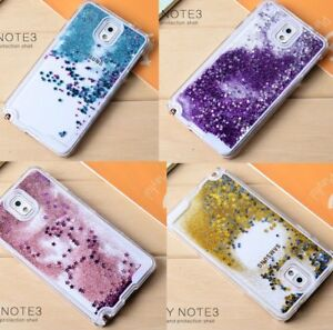 sports shoes f1210 4efc2 Details about Samsung Galaxy Note 3 - HARD SKIN CASE COVER Flowing Sparkle  Liquid Glitter Star