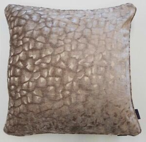 Latte Taupe Textured Washable Velvet