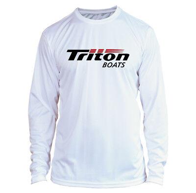Triton Boats Long Sleeve Microfiber UPF Fishing Shirt Gray