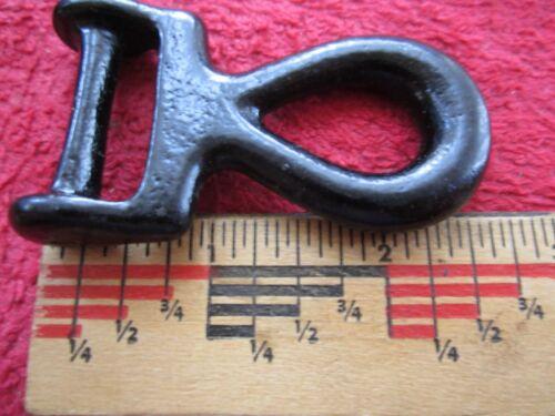 "Horse Tack Harnais//Hames Hardware Japanned 2 vintage 1/"" trace cockeye"
