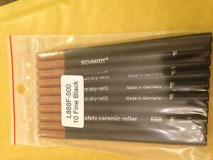 Schmidt-Safety-ceramic-Roller-888-Fine-Rollerball-Refill-Genuine-Schmidt-10-pk