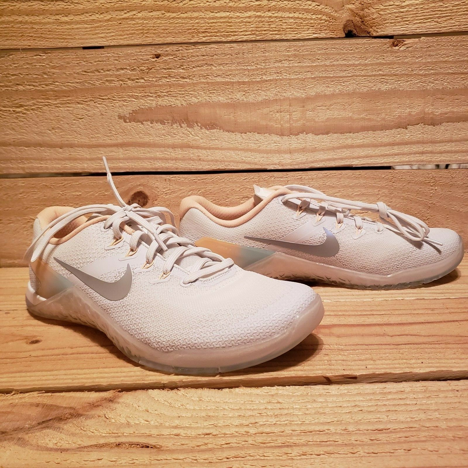 Nike Metcon 4 Rise AH8184 100 Women shoes Training Cross Size White Wolf Grey