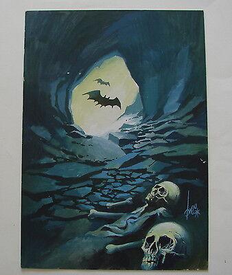 Originalzeichnung / Titelbild für Gruselroman , Zeichner Brea