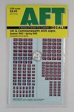 Archer 1/35 UK / CW AOS Signs Royal Artillery & Ordinance (1943 - 1945) AR77032