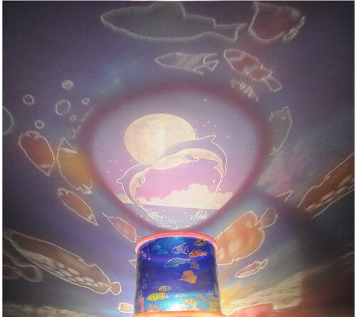 Blue Ocean Master Children Kids Bedroom Night Light LED Lamp Battery or USB