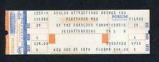 1979 Fleetwood Mac unused full concert ticket The Tusk Tour Stevie Nicks McVie