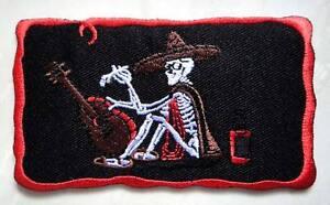 SMOKING SKULL COWBOY ZERO WITH HORSESHOE Embroidered Iron on Patch Free Shipping