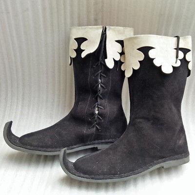 Medieval Leather Shoes Vintage Viking Boot King Renaissance Boots Classic Shoe