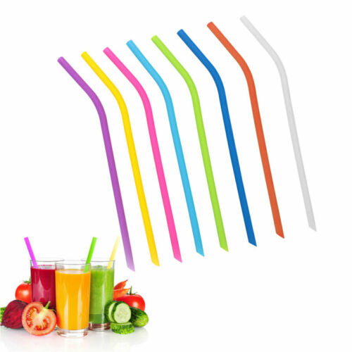 029F Food-Grade Drinking Straw Fruit Juice Cocktail Colorful Silicone Straw
