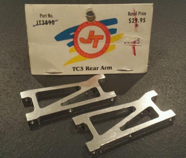 VINTAGE TEAM ASSOCIATED TC3 RC JT RACING ALUMINUM REAR ARMS JT3890