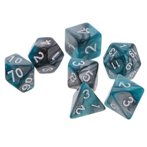 16mm 7x Polyhedral Dice Würfel für Dungeons und Dragons Tischspiele