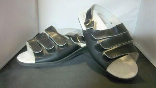 WORISHOFER - Women's Black Slingback Sandals - SIZ