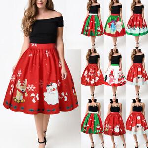 AU-Womens-Christmas-Mini-Dress-Ladies-Pleated-Pettiskirt-Bubble-Adult-Tutu-Skirt