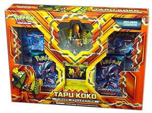 Pokemon TCG SM Tapu Koko Figure Collection Box, New and Sealed
