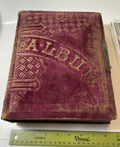 Vintage-Photo-Album-1890-s-Tintypes-amp-Cabinet-Cards-CDV-Rochester-New-Hampshire