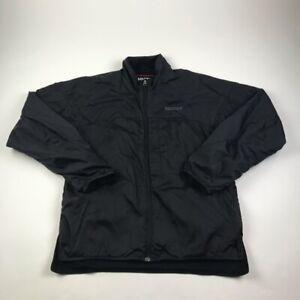 Marmot-Mens-Windbreaker-Jacket-Black-Lined-Mock-Neck-Full-Zip-Nylon-M