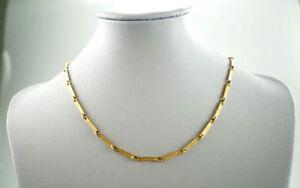 Wunderschoene-585er-Gold-Halskette-Lapponia-Marke-14-Karat-Gelbgold-13-11-Gramm